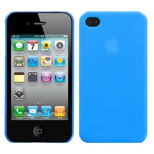 Insten Hard Cover Case For Apple iPhone 4/4S, Blue