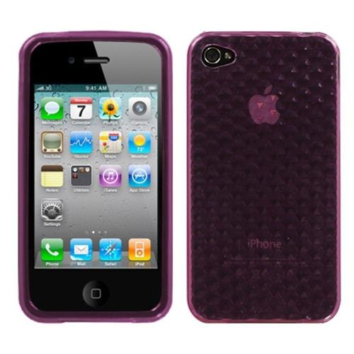 Insten Fitted Soft Shell Case for iPhone 4 / 4S - Purple