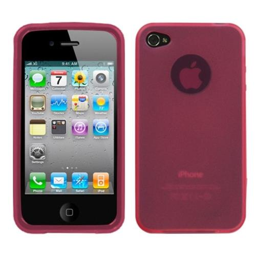 Insten Jelly Gel Clear Cover Case For Apple iPhone 4/4S, Pink