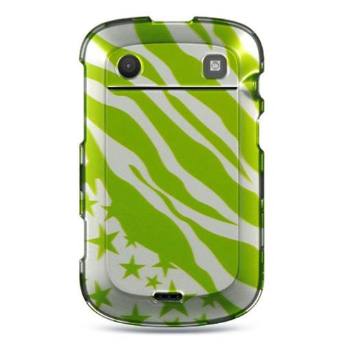 Insten Hard Rubber Coated Cover Case For BlackBerry Bold Touch 9900/9930, Green/White