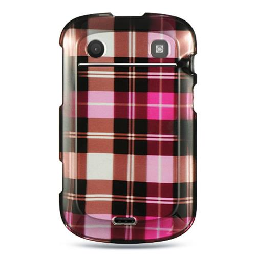 Insten Hard Rubber Case For BlackBerry Bold Touch 9900/9930, Hot Pink/Brown