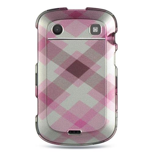 Insten Hard Rubberized Cover Case For BlackBerry Bold Touch 9900/9930, Pink/White