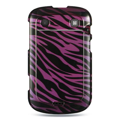 Insten Hard Rubber Coated Cover Case For BlackBerry Bold Touch 9900/9930, Purple/Black