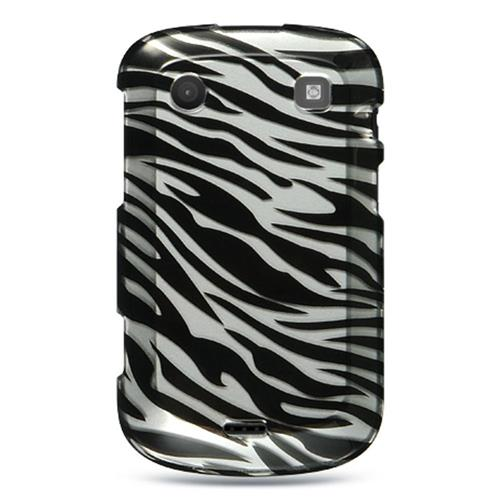 Insten Hard Rubber Coated Cover Case For BlackBerry Bold Touch 9900/9930, Silver/Black