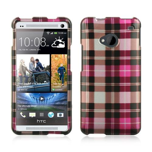 Insten Hard Rubberized Case For HTC One M7, Hot Pink