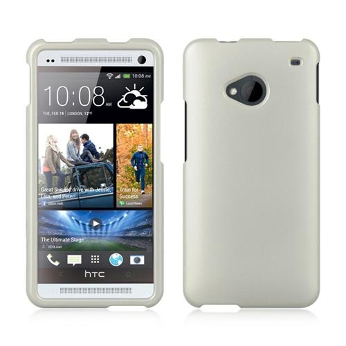 Insten Fitted Hard Shell Case for HTC One M7 - White