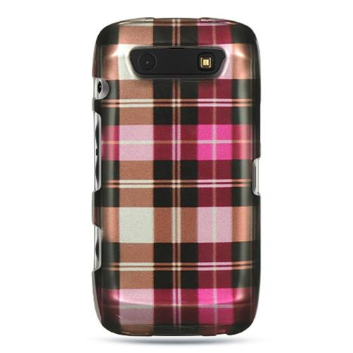 Insten Hard Rubber Coated Case For BlackBerry Torch 9850/9860, Pink/Brown