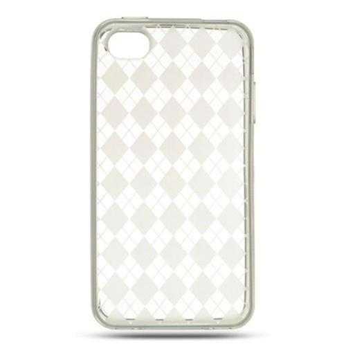 Insten Gel Cover Case For Apple iPhone 4, Clear