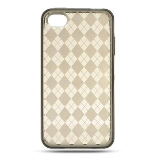 Insten TPU Cover Case For Apple iPhone 4, Smoke