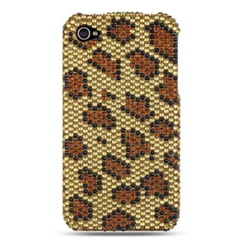 Insten Hard Bling Cover Case For Apple iPhone 4, Gold