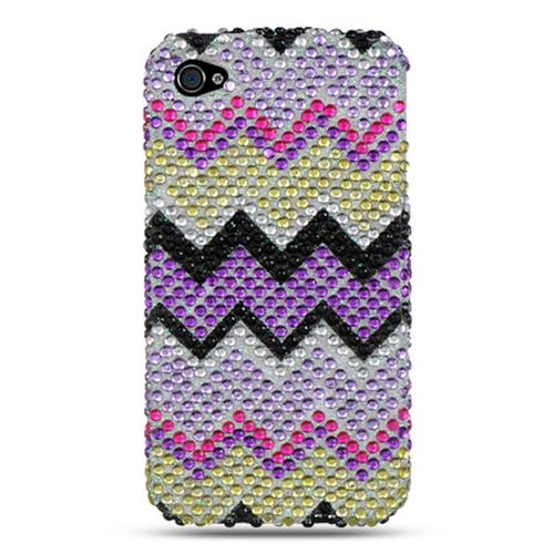 Insten Hard Bling Case For Apple iPhone 4/4S, Colorful