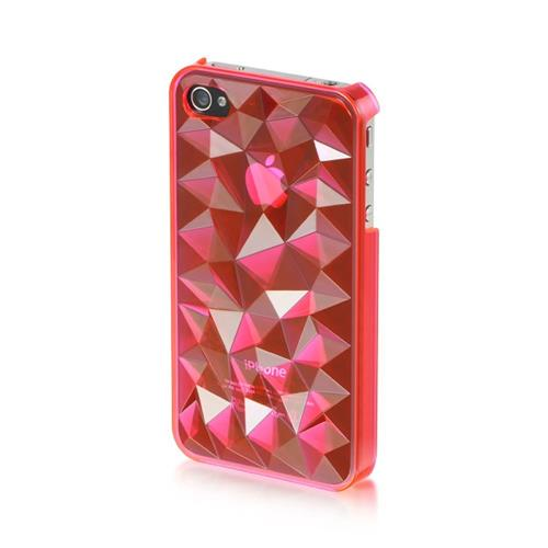Insten Fitted Hard Shell Case for iPhone 4 / 4S - Hot Pink