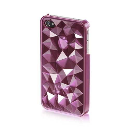 Insten Fitted Hard Shell Case for iPhone 4 / 4S - Purple