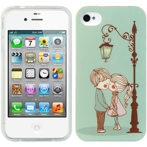 Insten Gel Cover Case For Apple iPhone 4/4S, Light Blue