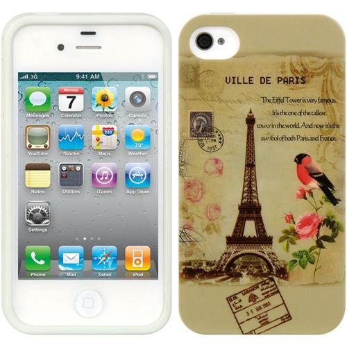 Insten Rubber Case For Apple iPhone 4/4S, Light Brown