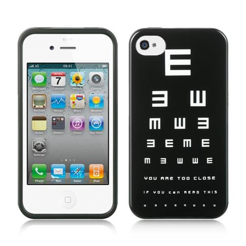Insten Hard Cover Case For Apple iPhone 4/4S, Black/White