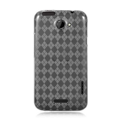 Insten Checker TPU Case For HTC One X, Clear