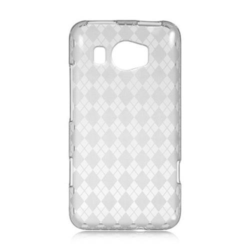 Insten Checker TPU Case For HTC Titan II, Clear