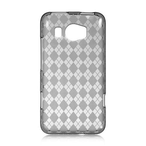 Insten Checker TPU Cover Case For HTC Titan II, Smoke