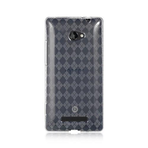 Insten Checker Gel Case For HTC Windows Phone 8X, Clear