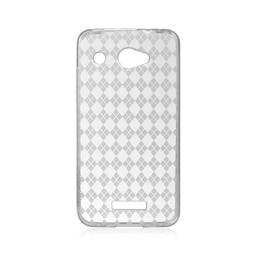 Insten Checker Gel Cover Case For HTC Droid DNA, Clear