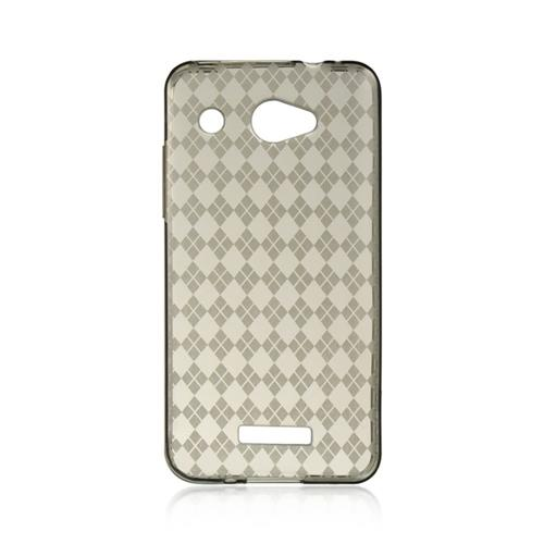 Insten Checker TPU Case For HTC Droid DNA, Smoke