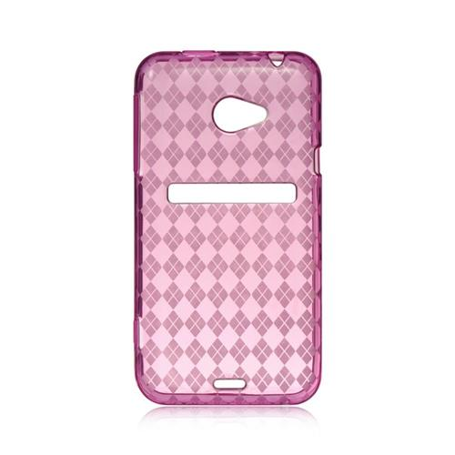 Insten Checker Rubber Cover Case For HTC EVO 4G, Hot Pink