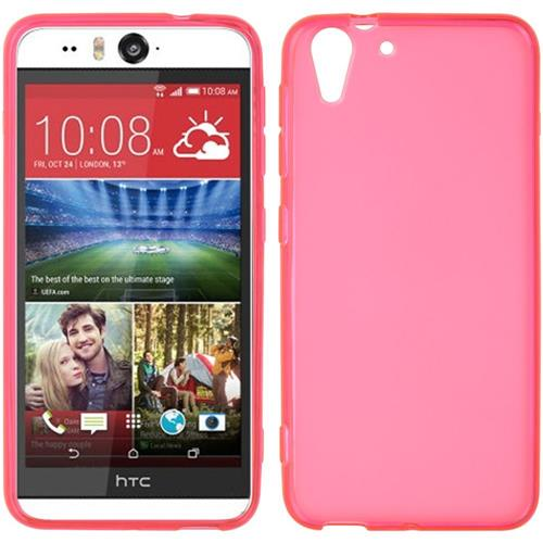 Insten Rubber Cover Case For HTC Desire Eye, Hot Pink