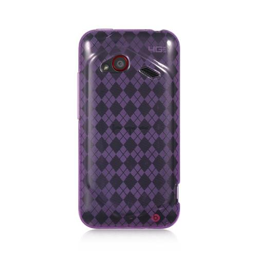 Insten Checker TPU Case For HTC Droid Incredible (LTE version), Purple
