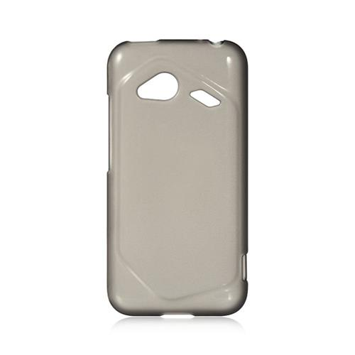 Insten Hard Rubber Coated Case For HTC Droid Incredible (LTE version), Smoke