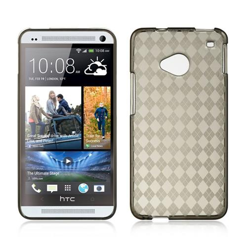 Insten Gel Cover Case For HTC One M7, Smoke