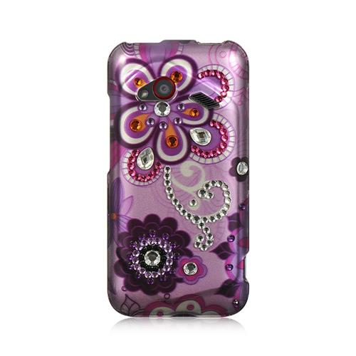 Insten Hard Diamond Cover Case For HTC Droid Incredible (LTE version), Purple