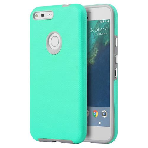 Insten Hard Dual Layer TPU Cover Case For Google Pixel XL, Teal/Gray
