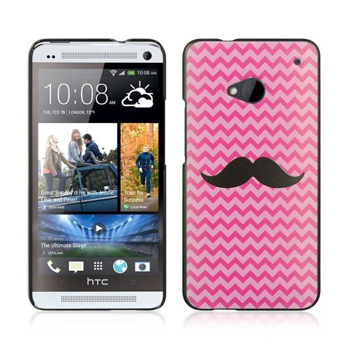 Insten Hard Rubberized Case For HTC One M7, Pink/Black