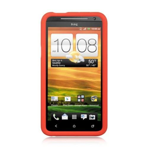 Insten Skin Rubber Cover Case For HTC EVO 4G, Red