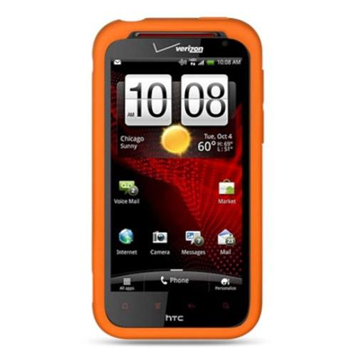 Insten Soft Rubber Case For HTC Rezound / Vigor, Orange