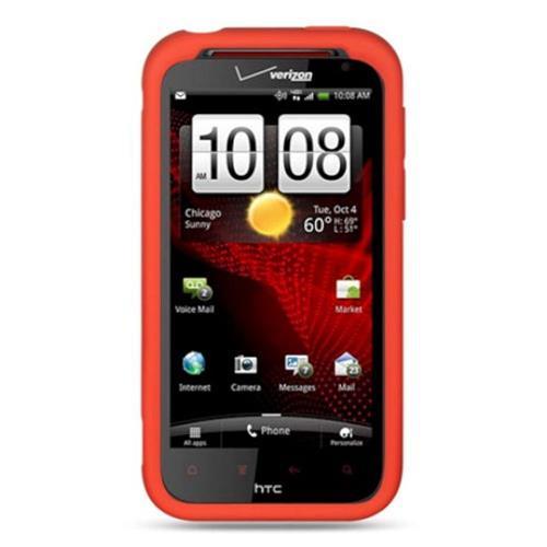 Insten Soft Rubber Cover Case For HTC Rezound / Vigor, Red