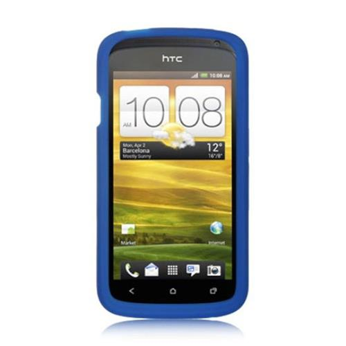 Insten Gel Rubber Case For HTC One S, Blue