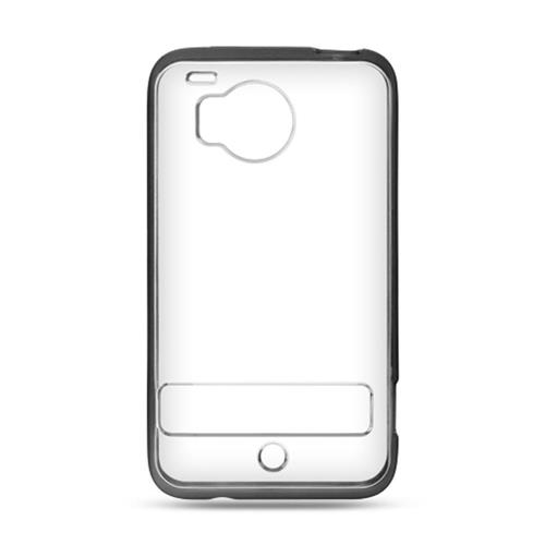 Insten Fitted Soft Shell Case for HTC ThunderBolt 4G - Clear/Black