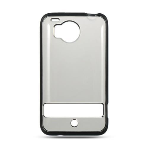 Insten Hard Plastic TPU Case For HTC ThunderBolt 4G, Smoke/Black