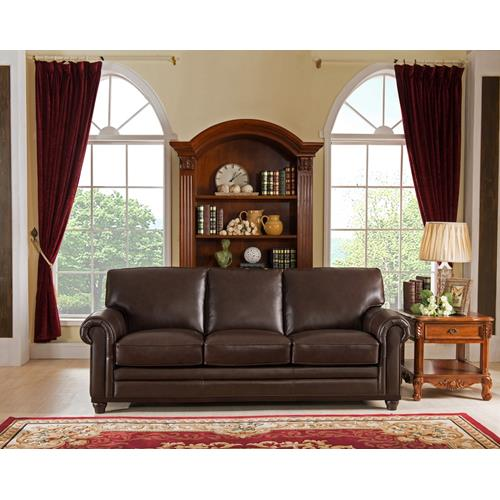 amax leather oscar top grain leather sofabrown