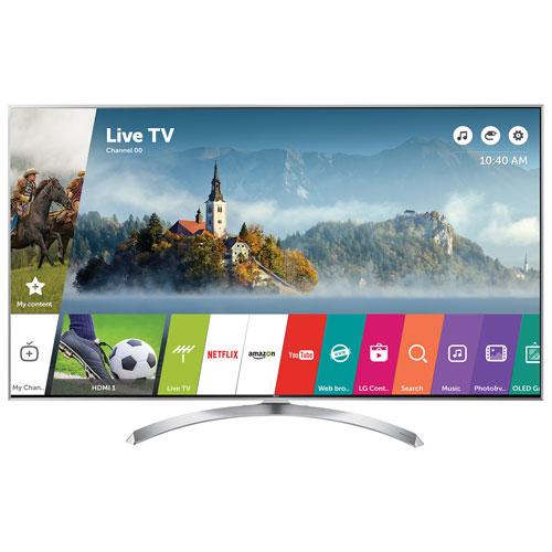 """LG 55"""" 4K UHD HDR LED webOS 3.5 Smart TV (55SJ8000) - Silver"""