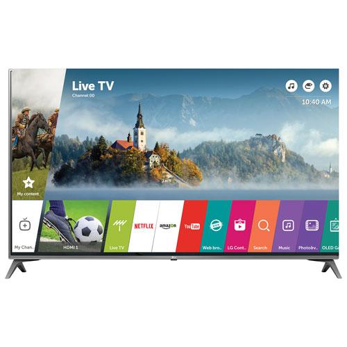 "LG 49"" 4K UHD HDR LED webOS 3.5 Smart TV (49UJ6500) - Silver"