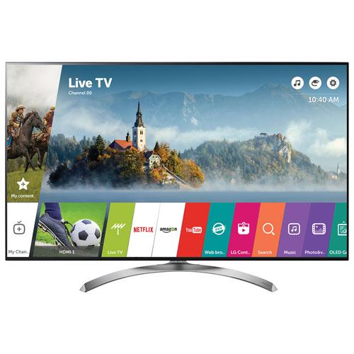 Téléviseur intelligent webOS 3.5 HDR DEL UHD 4K de 55 po de LG (55SJ8500) - Argenté