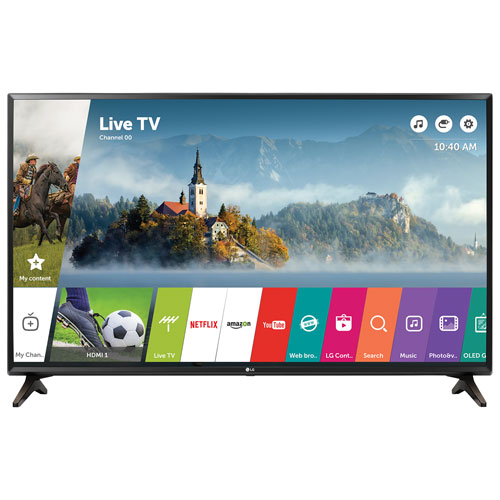 "LG 43"" 1080p HD LED webOS 3.5 Smart TV (43LJ5500) - Black"