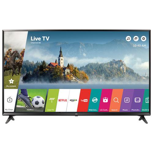 Téléviseur intelligent webOS 3.5 HDR DEL UHD 4K de 65 po de LG (65UJ6300) - Noir