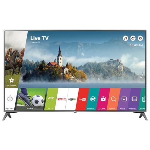 "LG 43"" 4K UHD HDR LED webOS 3.5 Smart TV (43UJ6500) - Silver"