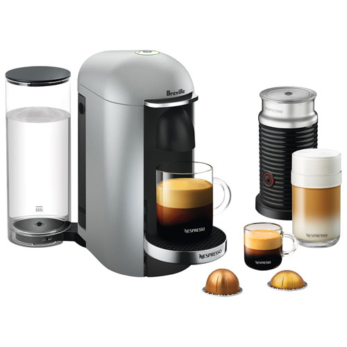 breville nespresso vertuoplus deluxe coffee system with aeroccino milk frother blacksilver - Nespresso Frother