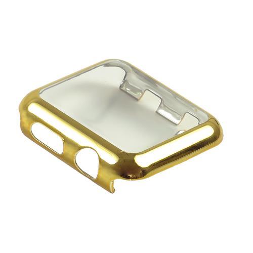 StrapsCo Apple Watch 38mm Series 2 Housse de protection en or rose avec protection d'écran tactile intégrée