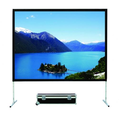 "Elunevison 135"" 16:9 Portable Fast Fold Projection Screen with Front and Rear Material"